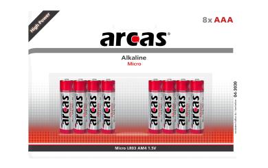 Micro-Batterie Alkaline 1,5V, Typ AAA/LR03, 8er-Pack