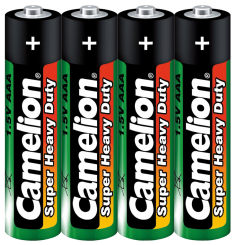 Micro-Batterie CAMELION Super Heavy Duty, 1,5 V, Typ AAA/R03, 4er-Pack