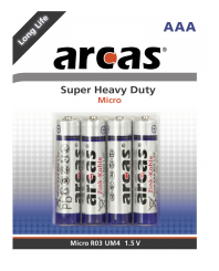 Micro-Batterie Super Heavy Duty 1,5V, Typ AAA/R03, 4er-Pack