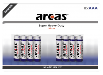 Micro-Batterie Super Heavy Duty 1,5V, Typ AAA/R03, 8er-Pack