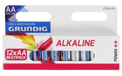 Mignon-Batterie GRUNDIG Alkaline, 1,5V, Typ AA/LR6, 12er-Pack