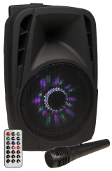 "Mobile Beschallungsanlage HOLLYWOOD ""MB-8 LED"" 300W, SD/USB, Bluetooth"