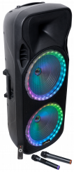 """Mobile Beschallungsanlage PARTY """"PARTY-215RGB"""" 900W, Bluetooth, LED-Beleuchtung"""