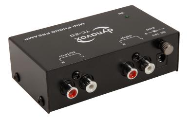 Phonovorverstärker TC-20 dynavox, schwarz,