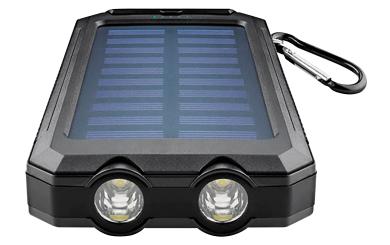 Powerbank Outdoor 8.000mAh, mit Taschenlampe, IP45