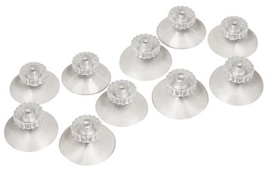 Saugnapf McPower, Ø45mm mit Schraube, max. 2,5kg, transparent, 10er-Pack