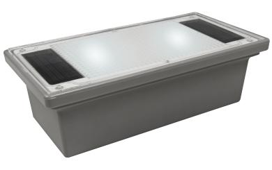 "Solar LED-Bodenleuchte McShine ""Pflasterstein"" 20x10x6cm, IP68"
