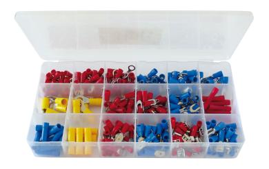 Kabelschuh-Sortiment, 300-tlg., in Plastikbox