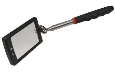Spiegel Werkzeug McPower mit LED, Teleskop 28-80cm, Spiegel 40x65mm