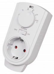 "Steckdosen-Thermostat McPower ""TCU-330"" 5-30°C, max. 3500W, 230V"