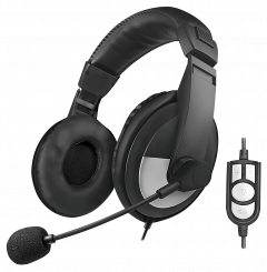 Stereo Headset High Quality, USB, schwarz