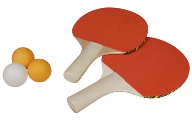 Tischtennis-Set, 2 Schläger und 3 Bälle