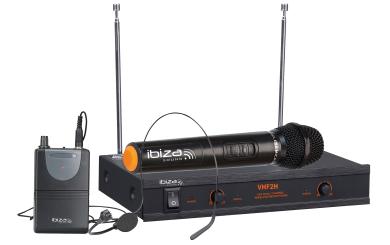 "VHF-Funkmikrofon-Set IBIZA ""VHF2H"" 2-Kanäle, bis zu 60m Reichweite"