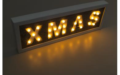 Weihnachtslicht 'XMAS', 25LED's, 40cm
