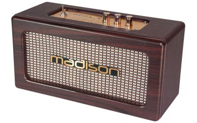 """tragbarer Nostalgie Lautsprecher MADISON """"FREESOUND-VINTAGE-WD"""" Bluetooth, Akku"""