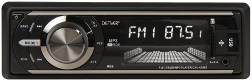 111700107 Autoradio ''CAU-439BT'', USB, SD, AUX, RDS, Bluetooth, 4x 25W