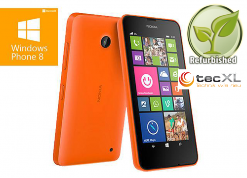 111100955 Microsoft Lumia 630 Orange- 8 GB - WLAN - Bluetooth- Akku OK - Retail