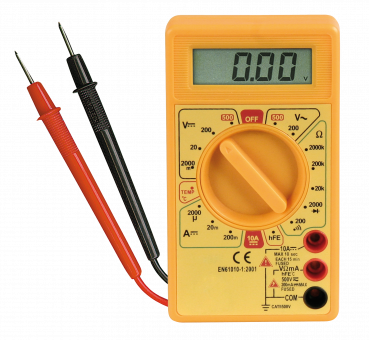 "Digitalmultimeter McPower ""M-330T"", Temperatur-Messung -50 °C bis +1.000°C"