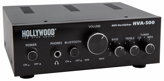 "HiFi-Verstärker HOLLYWOOD ""HVA-500"" 2x100W, Bluetooth"