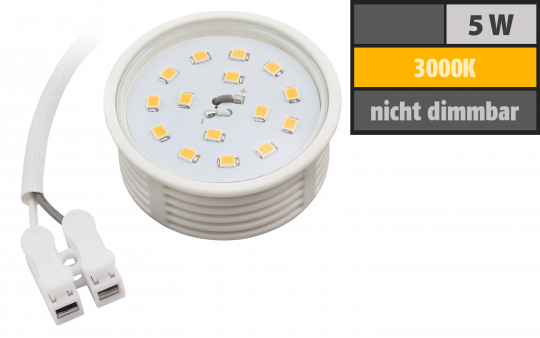 LED-Modul McShine, 5W, 400 Lumen, 230V, 50x23mm, warmweiß, 3000K, Milchglas