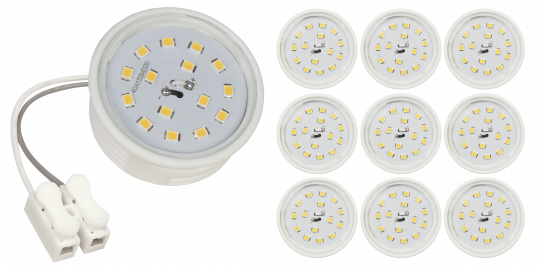 LED-Modul McShine, 5W, 400lm, 230V, 50x23mm, warmweiß, 3000K, 10er-Pack