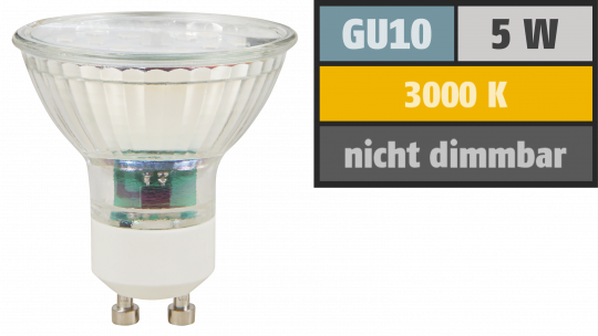 "LED-Strahler McShine ""ET50"", GU10, 5W, 400 lm, warmweiß"