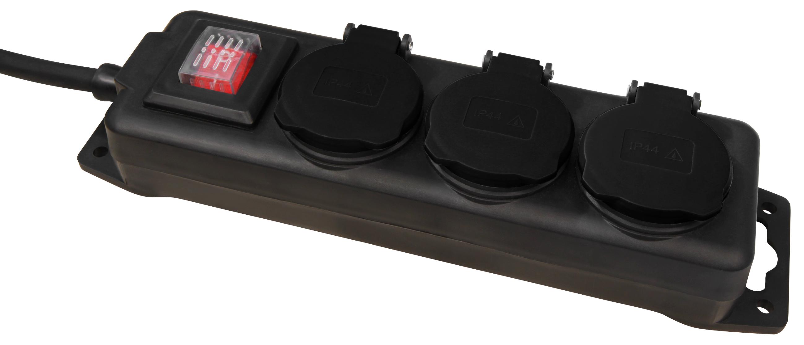 Bekannt Garten-Steckdosenleiste McPower, 3-fach mit Schalter, IP44 für LP08