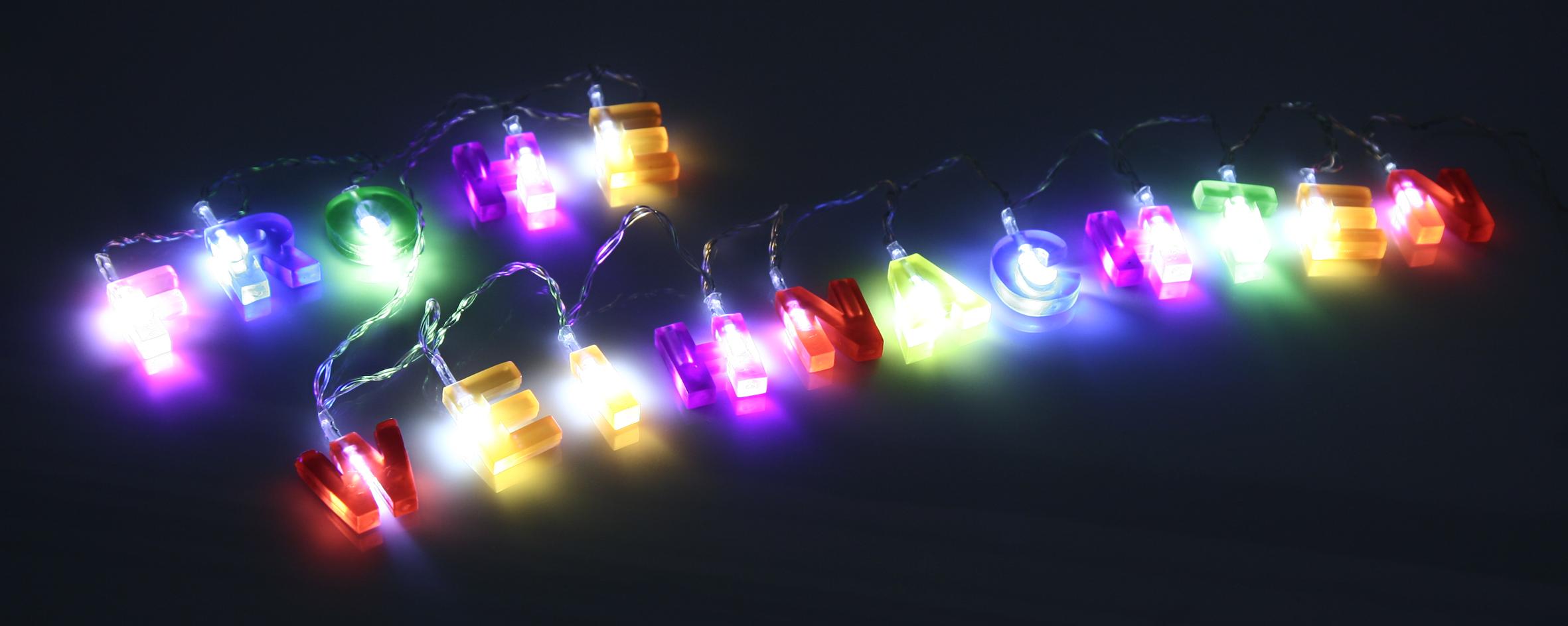Led Lichterkette Weihnachten.Led Lichterkette Frohe Weihnachten Länge Ca 1 75m