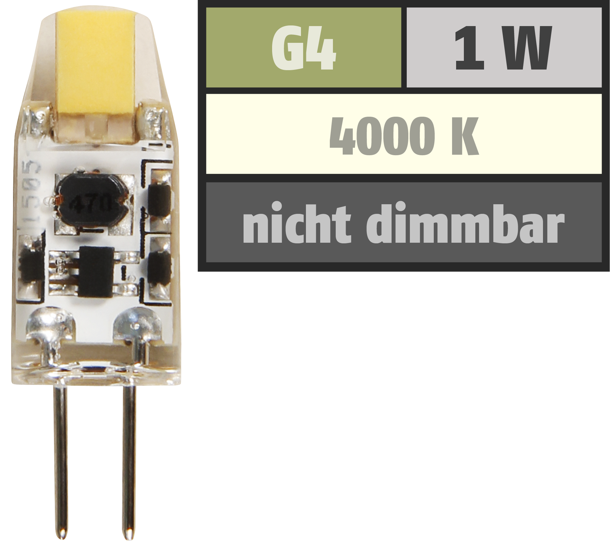 LED-Stiftsockellampe McShine G9 2W 220lm warmweiß