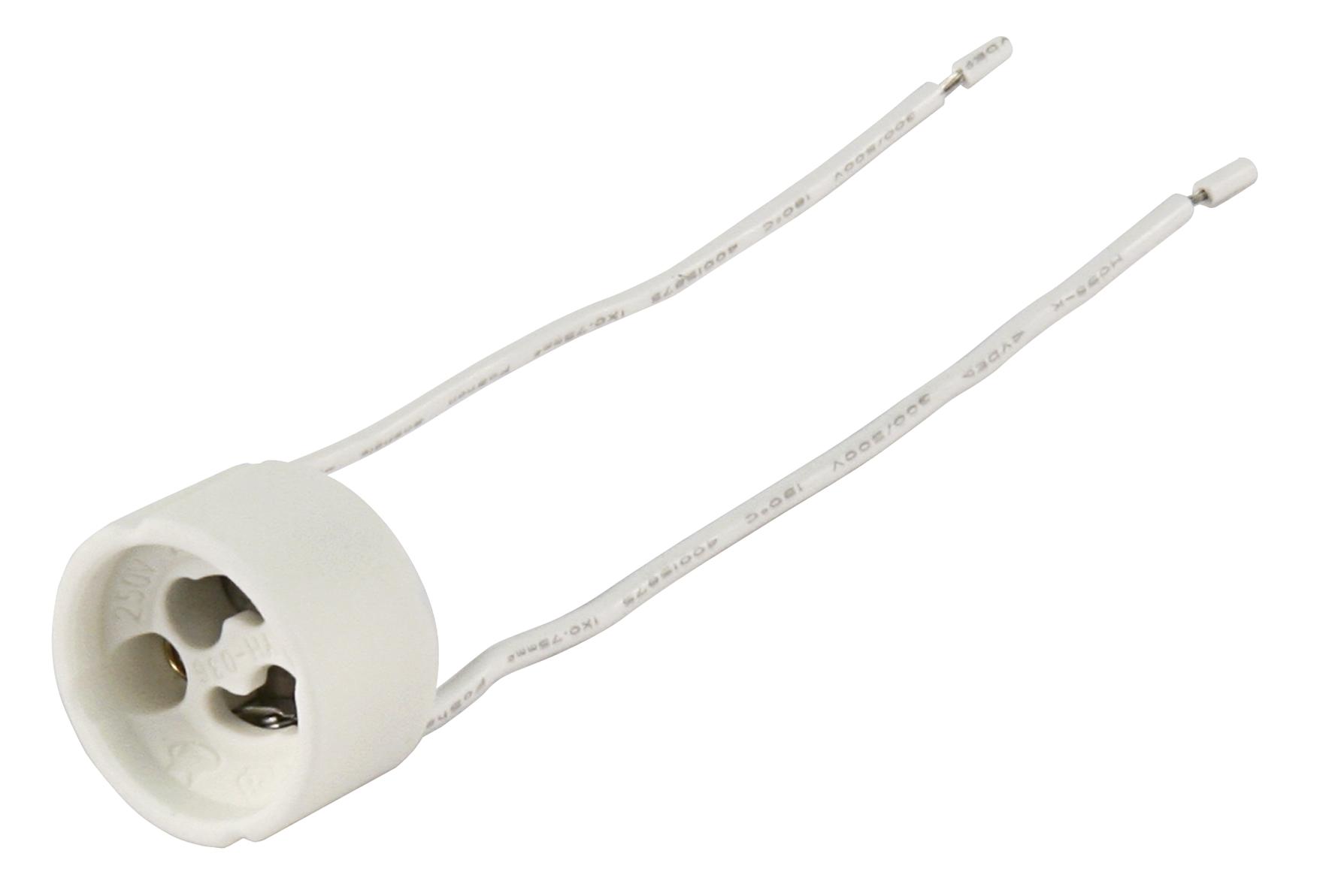 230V//100W 2 x Lampenfassung GU10 rund für Hochvoltlampen 11cm Kabel max
